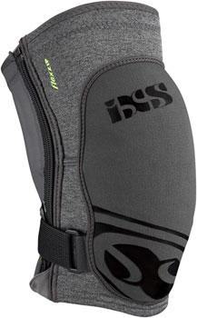 iXS Flow ZIP Knee Pads: Gray LG
