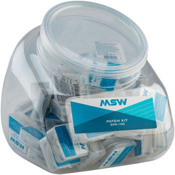 MSW GPK-100 Glueless Patch Kit, Jar of 50
