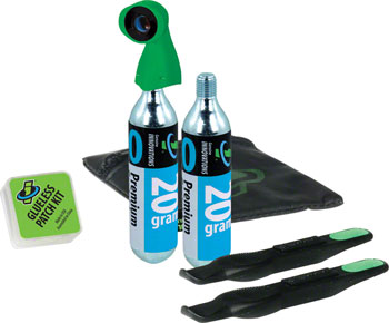 Genuine Innovations Tire Repair and Inflation Wallet Kit: Includes two 20g Co2 Cartridges
