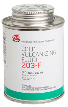 Rema Cold Vulcanizing Fluid Patch Glue: 8.0oz Can