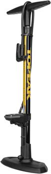 Topeak JoeBlow Sport Digital Floor Pump - 160psi / 11bar Digital Gauge, TwinHead DX5, Black/Yellow