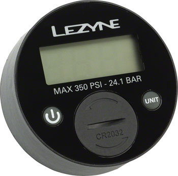 "Lezyne 350psi Digital 2.5"" Gauge for all floor pumps"
