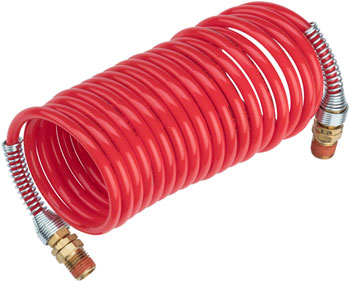Prestacycle High Pressure Coil Hose: 12-foot, Red