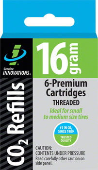 Genuine Innovations 16gram Threaded CO2 Cartridges: 6-Pack