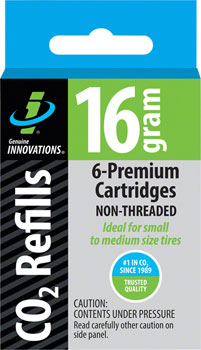 Genuine Innovations 16gram Threadless CO2 Cartridges: 6-Pack