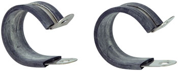 "Jandd 1 3/8"" Rubberized Clamps: Pair"