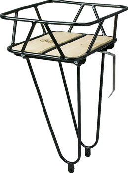 Minoura Gamoh King Carrier Front Basket: Junior, Black