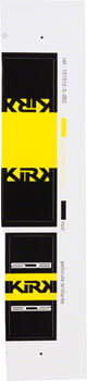 Bos Suspension Kirk2 Rear Shock Decal Kit Yellow