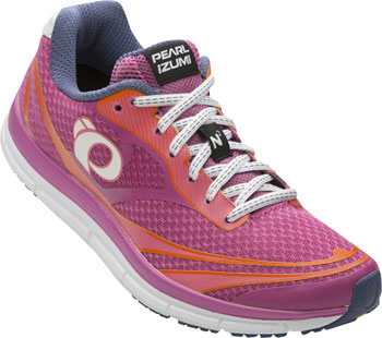 Pearl Izumi E:Motion Road N 2 v3 Women's Running Shoe: Ibis Rose/White 9.5