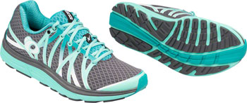 Pearl Izumi E:Motion Road N 3 Women's Running Shoe: Shadow Gray/Aqua Mint 7