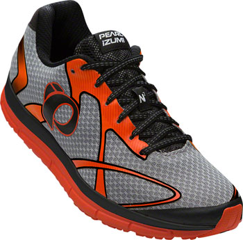 Pearl Izumi E:Motion Road N2 v3 Men's Run Shoe: Silver/Red Orange 14