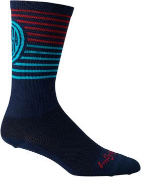 Salsa Devour Socks: Blue/Red SM/MD