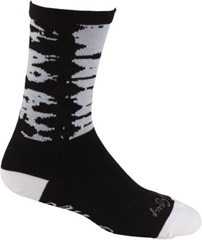 All-City Darker Wave Sock: Black/White LG/XL