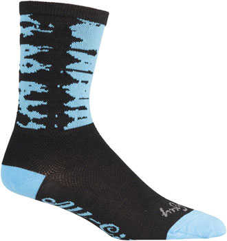 All-City Darker Wave Sock:s Black/Blue LG/XL