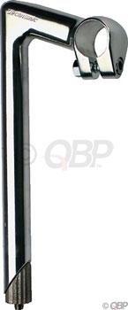 Nitto Technomic Stem - 80mm, 26 Clamp, -18, 22.2-24tpi Quill, Aluminum, Silver