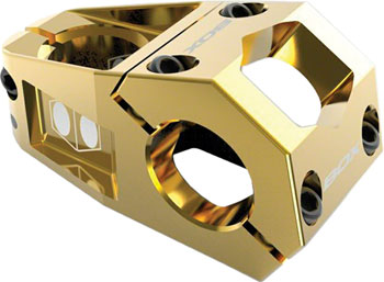 BOX Components Delta Stem +/- 0 degree 31.8mm Bar Clamp 53mm Reach, Gold