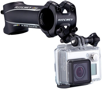 Ritchey Universal Stem Face Plate Accessory Mount: GoPro, Black
