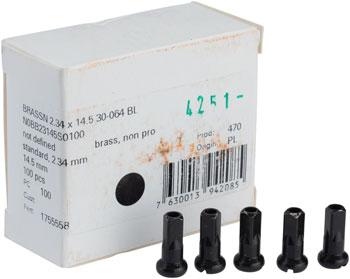 2.0 x 16mm Silver Box of 100 DT Swiss Standard Aluminum Nipples