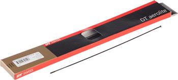 DT Swiss Aerolite Spoke: 2.0mm Each Bladed Black Straight Pull 306mm