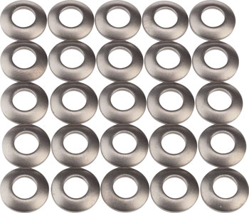 Zipp Round Titanium Nipple Washers for 202 Carbon Clincher Firecrest Wheels, 25-pack