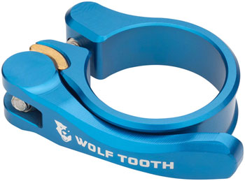 Wolf Tooth Components Quick Release Seatpost Clamp - 28.6mm, Blue