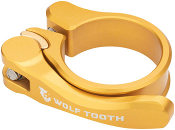 Wolf Tooth Components Quick Release Seatpost Clamp - 28.6mm, Gold