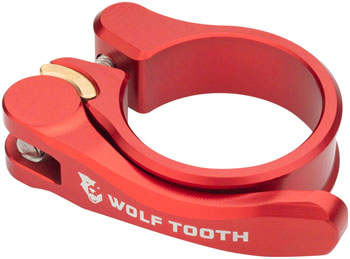 Wolf Tooth Components Quick Release Seatpost Clamp - 28.6mm, Red