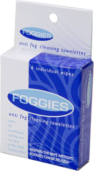 Foggies Anti-Fog Cleaning Towelettes: 6-Pack