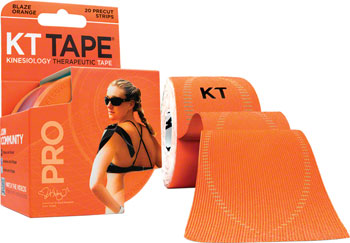 KT Tape Pro Kinesiology Therapeutic Body Tape: Roll of 20 Strips, Blaze Orange