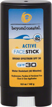 Beyond Coastal Active Face Sunscreen Stick SPF 30: 0.5oz