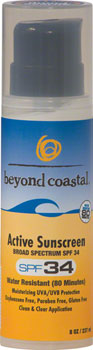 Beyond Coastal Active Airless Pump Suncreen SPF 34: 8oz