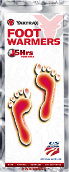 Yaktrax Warmers Foot Warmer Insole: SM/MD, W5-8, M4-7, Box of 20 Pair