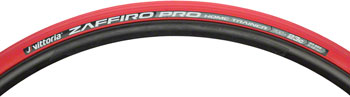 Vittoria Zaffiro Pro Home Trainer Tire: Folding Clincher, 700x23, Red