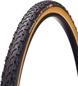Challenge Baby Limus Pro Tire - 700 x 33, Clincher, Folding, Black/Tan, 300tpi