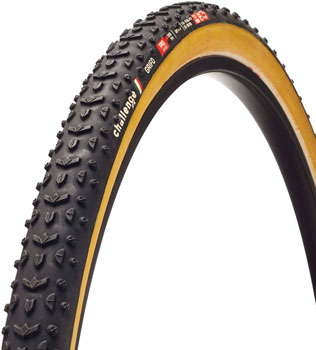 Challenge Grifo Pro Tire - 700 x 33, Clincher, Folding, Black/Tan, 300tpi