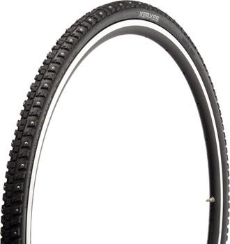 45NRTH Xerxes  Tire - 700 x 30, Clincher, Steel, Black, 33tpi, 140 Carbide Steel Studs