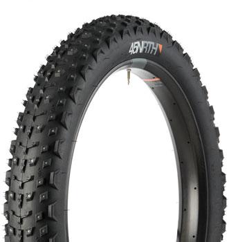 45NRTH Dillinger 4 Tire - 26 x 4, Tubeless, Folding, Black, 60tpi, 240 Carbide Steel Studs