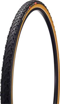 Challenge Baby Limus Pro Tire: Tubular, 700x33, 300tpi, Black/Tan
