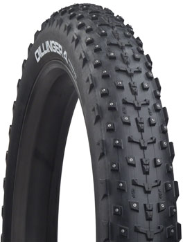 "45NRTH Dillinger 4 Studded Fat Bike Tire: 27.5 x 4.0"", 252 Concave Studs, Tubeless Ready Folding, 120tpi, Black"