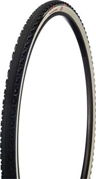 Challenge Chicane Tire - 700 x 33, Tubular, Folding, Black/White, 320tpi