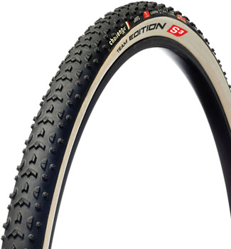 Challenge Grifo TE S Tire - 700 x 33, Team Edition Tubular, Black/White, 320tpi
