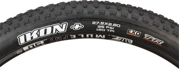 Maxxis Ikon+ Tire 27.5 x 2.80, Folding, 120tpi, Dual Compound, EXO, Tubeless Ready, Black