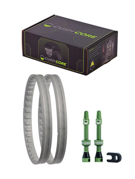 "Cush Core Tire Inserts Set 27.5"" Plus width Pair, Includes 2 Tubeless Valves"