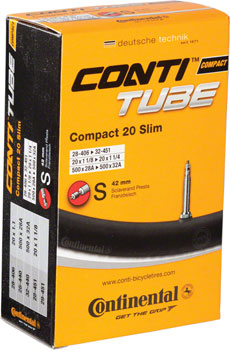 Continental 20 x 1-1/8-1-1/4 42mm Presta Valve Tube