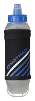 Nathan ExoShot Handheld Hydration with 12oz Bottle: Black/Blue