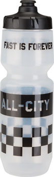 All-City Purist Water Bottle 26oz Translucent with Black Cap