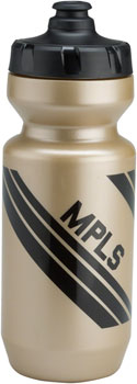 All-City Purist Water Bottle: MPLS, Gold