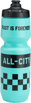 All-City Purist Water Bottle: Fast is Forever, Turquoise, 26oz