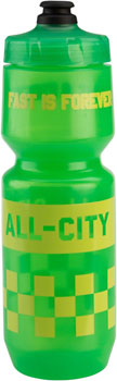 All-City Purist Water Bottle: 26oz, Fast is Forever, Green