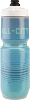 All-City Insulated Purist Water Bottle: 23oz, Bright Lines, Blue